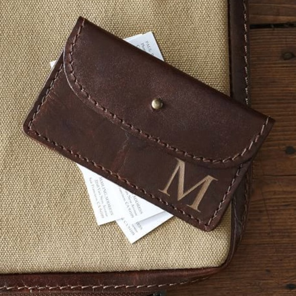 Pottery Barn Accessories Leather Business Card Holder Poshmark
